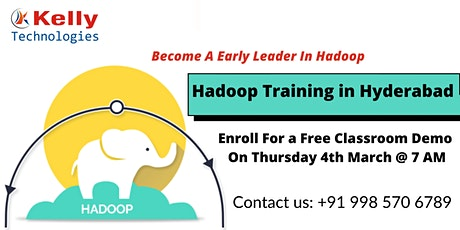 Free Hadoop Classroom Demo Session On Thu 4th March 2021 @ 7 AM in Hyd tickets