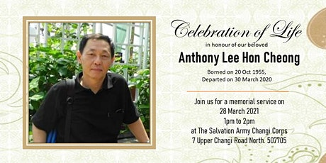 Celebration of Life in honor of our beloved Anthony Lee Hon Cheong tickets