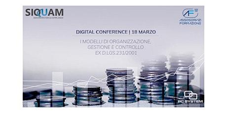 WEBINAR| Modelli di Organizzazione, Gestione e Controllo ex D.lgs.231/2001 biglietti