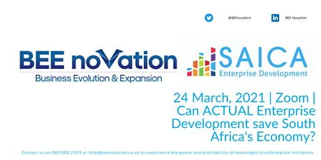 Can ACTUAL Enterprise Development save South Africa's Economy? tickets