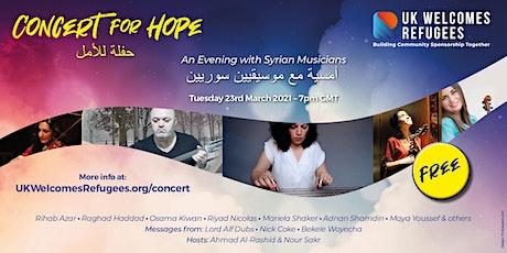Concert for Hope biglietti