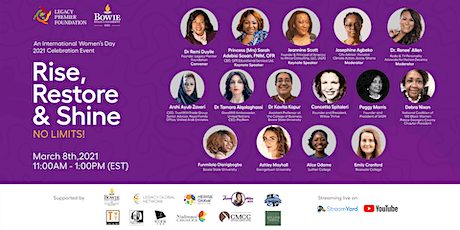Legacy Premier Foundation IWD2021 Event - Rise, Restore and Shine tickets