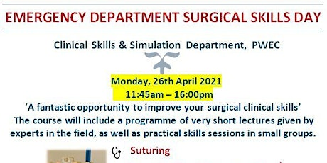 EMERGENCY DEPARTMENT SURGICAL SKILLS COURSE tickets