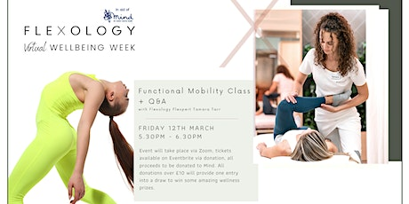 Functional Mobility Class with Flexology Sports Therapist. In aid of Mind. tickets