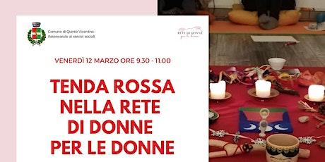 TENDA ROSSA NELLA RETE DI DONNE PER LE DONNE biglietti