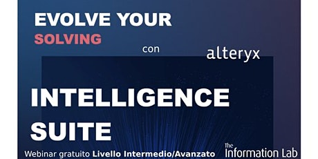 Webinar Alteryx Intelligence Suite (INT/ADV) biglietti