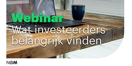 Webinar - Wat investeerders belangrijk vinden tickets