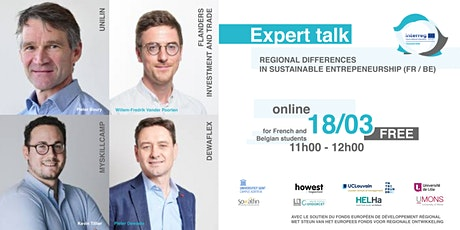 Expert talk: Regional differences in sustainabe entrepeneurship (FR/BE) tickets