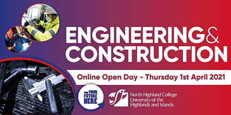 Engineering and Construction Online Open Day tickets