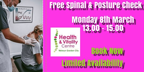 Free Spinal & Posture  Screen tickets