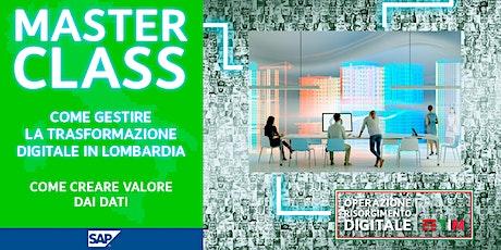 Come gestire la trasformazione digitale in Lombardia - Crea valore dai dati biglietti