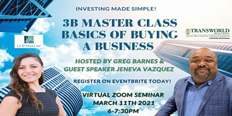 3B Master Class - Mastering the Basics of Buying a Business boletos