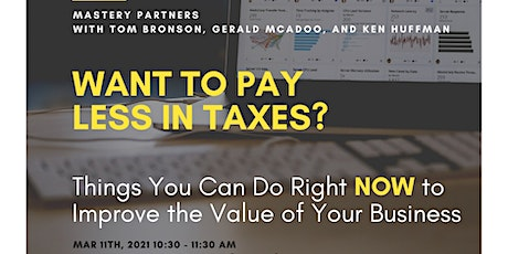 Things You Can Do Right NOW to Improve the Value of Your Business: tickets