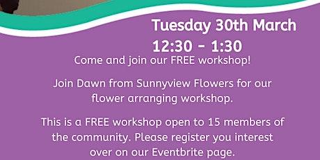 Motherwell Cheshire Flower arranging workshop Tickets