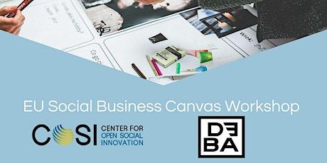 EU Social Business Canvas Workshop (für KMU's) in Kooperation mit DEBA Tickets
