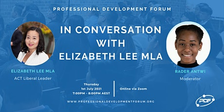 In Conversation with Elizabeth Lee MLA tickets