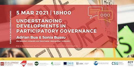 Development Studies Webinar -  Participatory governance tickets