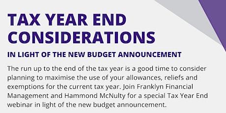 Tax Year End Considerations Webinar tickets