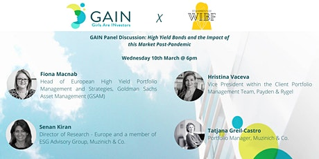 GAIN Panel: High Yield Bonds & the Impact of this Market Post-Pandemic tickets