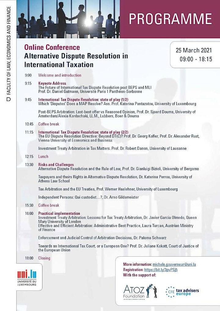 Alternative Dispute Resolution in International Tax image