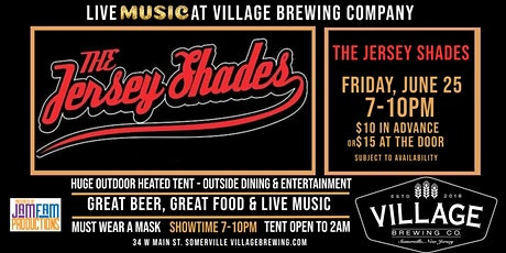 The Jersey Shades @Village Brewing Company! tickets