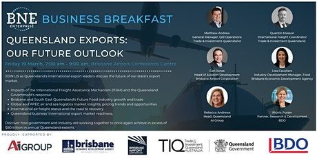 Queensland Exports: Our Future Oulook tickets