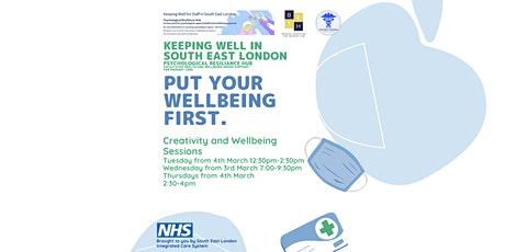 Creativity and Wellbeing Sessions for Primary Care Staff tickets