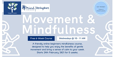 Movement & Mindfulness (additional tickets) - An Enjoying Derbyshire course tickets