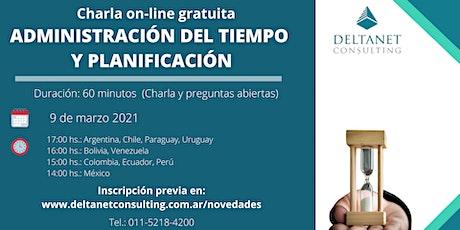 Charla on-line gratuita: Administración del Tiempo y Planificación entradas