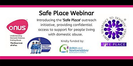 Onus Safe Place Webinar - Antrim & Newtownabbey Street Pastors tickets
