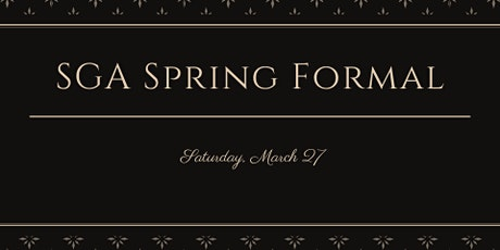 Spring Formal tickets
