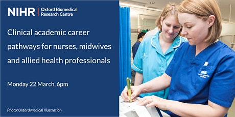 Clinical academic career pathways for nurses, midwives and AHPs tickets