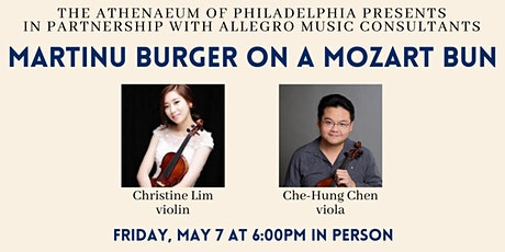 Allegro Presents: Martinu Burger on a Mozart Bun In Person Performance tickets