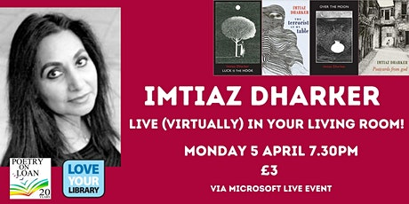 Imtiaz Dharker - Live (virtually) in your living room! tickets