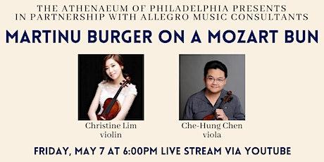 Allegro Presents: Martinu Burger on a Mozart Bun Live Stream tickets