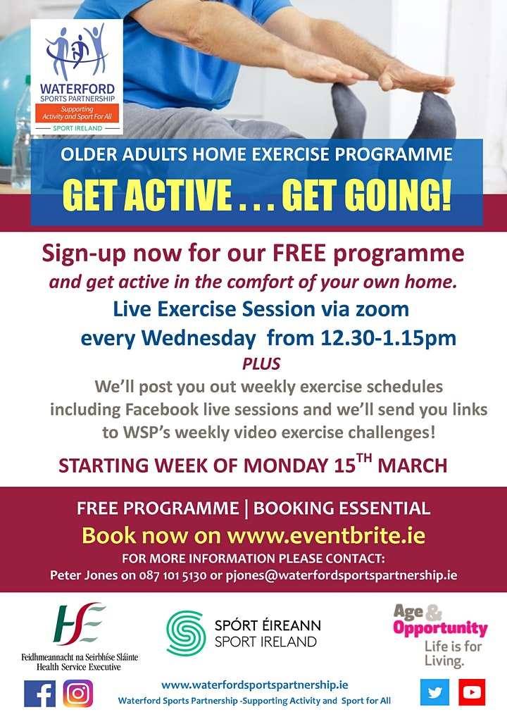 WSP Over 50's  - Get Active, Get Going programme image