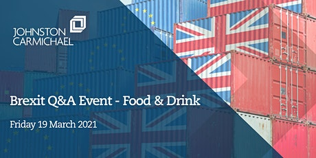 Brexit Q&A event – food & drink tickets