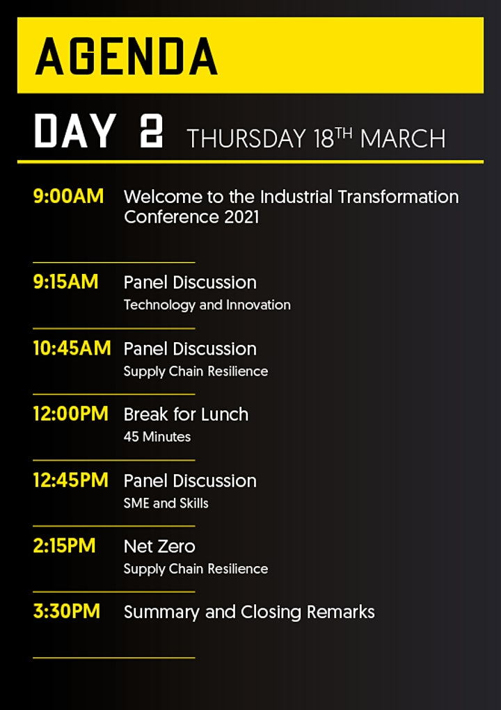 The Industrial Transformation Conference image