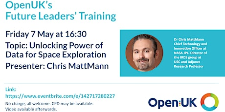 Unlocking Power of Data for Space Exploration - Future Leaders Training tickets