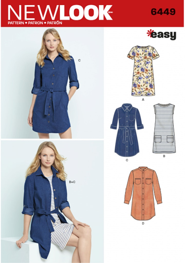 Beginners Sewing: Sew a Shirt Dress - Bring your own fabrics! ( 4 Sessions) image
