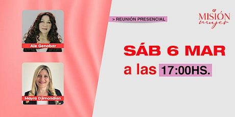 Reunión Presencial en Caudal de Vida-Misión Mujer- Sábado 06/03/21 tickets