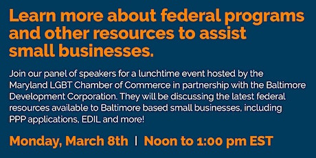Learn more about federal programs for small businesses tickets