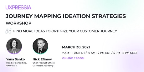 Journey Mapping Ideation Strategies tickets