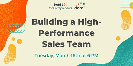 Building a High-Performance Sales Team tickets