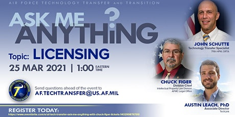 AF Tech Transfer Ask Me Anything with Chuck Figer tickets