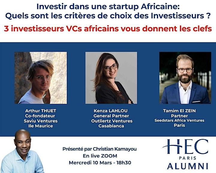 Image pour Startups Africaines - Quels sont les critères de choix des investisseurs ?