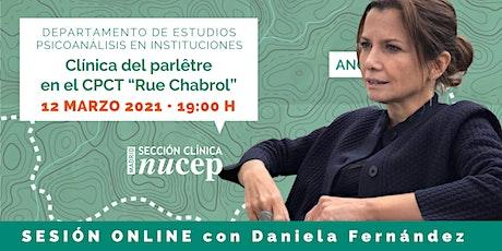 """Clínica del parlêtre en el CPCT """"Rue Chabrol"""" - SESIÓN ONLINE boletos"""