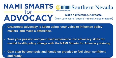 NAMI Smarts for Advocacy Training Module 1: Telling Your Story tickets