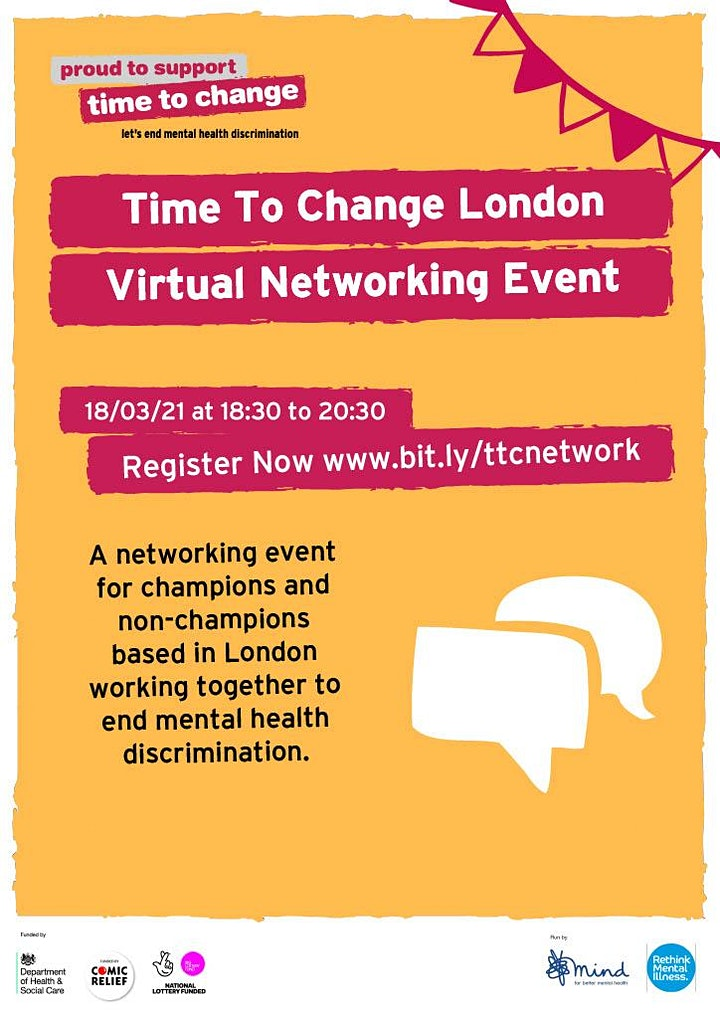 Time To Change London Networking Virtual Event image