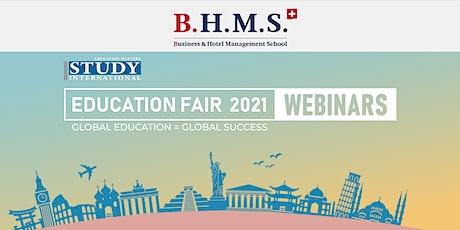 Post-Fair FREE Webinar:  Business & Hotel Management School, Switzerland tickets